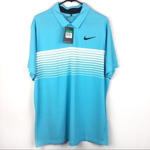 NWT Men's Nike Golf Shirt | DRI FIT Light Blue XL
